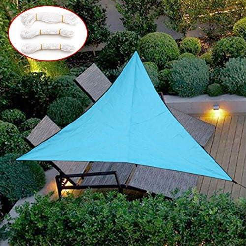 防水UVサン三角シェードセイル日シェルターサンシェードキャノピーパティオプールシェードセイルオーニングキャンプピクニックテント,ブルー,3*3*3m