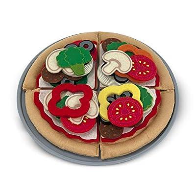 Melissa & Doug Felt Food Pizza Set: Melissa & Doug: Toys & Games
