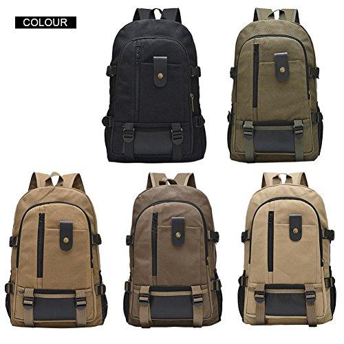 Shoulder Casual Bag School Backpacks Zerototens Male Men Canvas Designer Solid fashion Bag Arcuate Zipper Backpack Green For 1xxzRIqwE