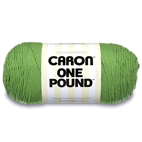 Solid Yarn Grass - Caron  One Pound Solids Yarn - (4) Medium Gauge 100% Acrylic - 16 oz -  Grass Green- For Crochet, Knitting & Crafting