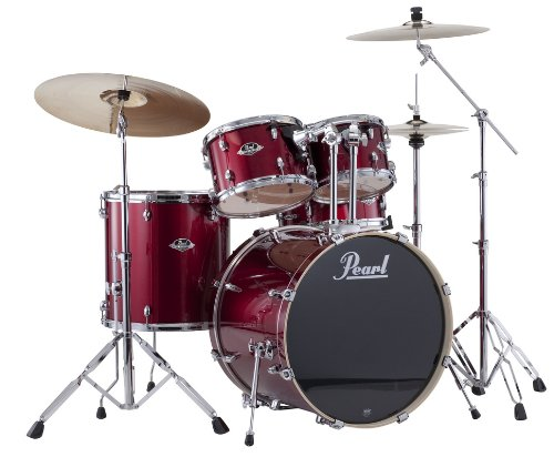 pearl-exx725s-c-5-piece-export-new-fusion-drum-set-with-hardware-red-wine