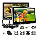 2019 New 11.6 Inch 1080P HD Digital Multimedia Monitor Super-Thin Car Headrest DVD Player, Eonon Headrest Monitors with HDMI Port and Remote Control USB and SD-C0318