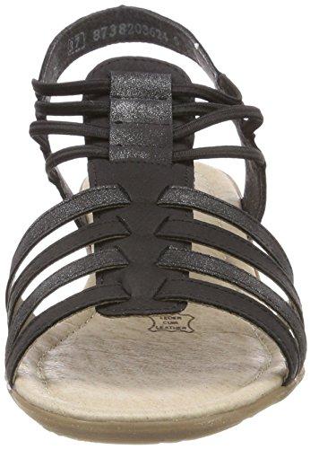 Sandales graphit Femme Noir Bride Cheville R3630 schwarz Remonte pnFaCO