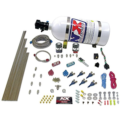 (Nitrous Express 80006EFI-05 60-250 HP 6-Cylinder Gasoline EFI Piranha Nozzle System with 5 lbs. Bottle)