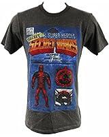 """Marvel Comics Deadpool """"Secret Super Hero"""" Men's T Shirt"""