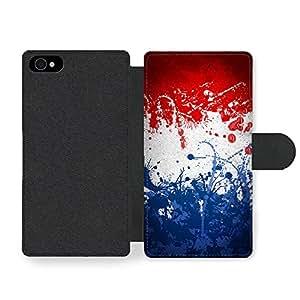 French Flag France Drapeau Français Faux Leather case for iPhone 4 4S