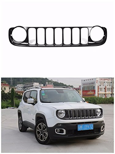 FMtoppeak-Black-Exterior-Accessories-ABS-Chrome-Front-Grille-Grill-Kit-Cover-For-Jeep-Renegade-2014-UP