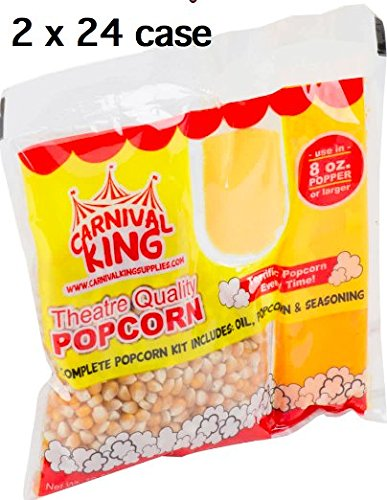 Carnival King All-In-One Popcorn Kit for 8-10 Ounce Poppers - 48 (2 24/Case) by Carnival King (Image #1)