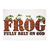 5' x 7' Area Rug FROG Fully Rely On God