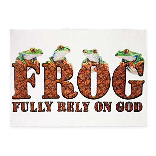 5' x 7' Area Rug FROG Fully Rely On God by Royal Lion