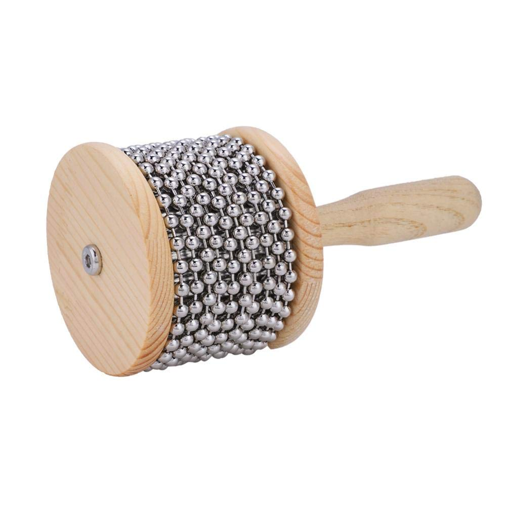 Wooden Cabasa,Percussion Instrument Beat Instrument For Children Kids Student by Yosoo-