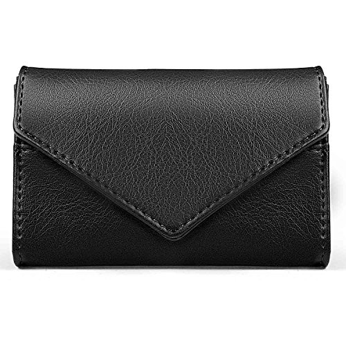 XeYOU Envelope Style Leather Case Front Pocket Wallets Super Thin Fashion Card Holder With ID Card Slots - Mk Black Friday