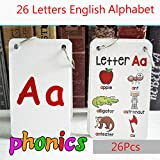 FieldDream 26PCS/Set ABC English Alphabet 26 Letters Child Flash Cards Baby Learning Toys Kids Gift Pre-Kindergarten
