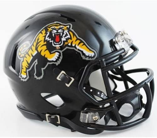 Riddell NCAA Hamilton Tiger-Cats Helmet Mini SpeedHelmet Replica Mini Speed Style Team Colors One Size