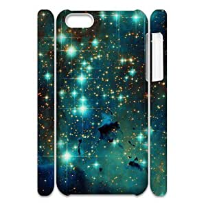 DIY Phone Case with Hard Shell Protection for Iphone 5C 3D case with Brilliant stars lxa#465516