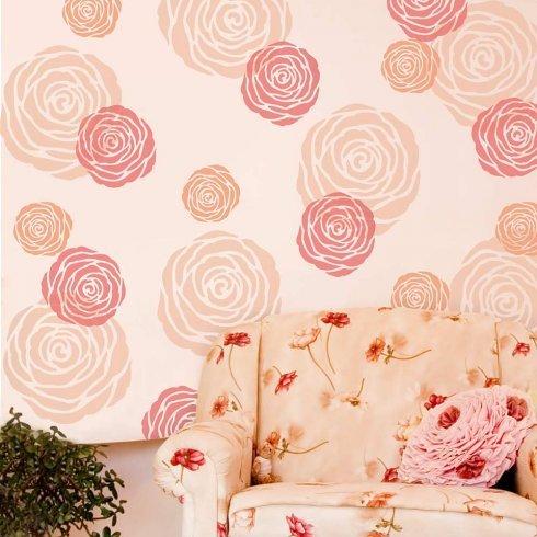 Design Stencils For Walls bedroom wall stencil Rose Flower Wall Stencil Medium Reusable Stencils For Walls Better Than Wallpaper Diy Wall Design By Cutting Edge Stencils Amazoncom