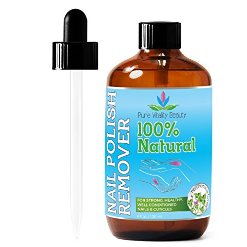 Nail Polish Remover - Natural and Plant Based - Non Acetone - Conditioner and Strengthener for Nails and Cuticles...