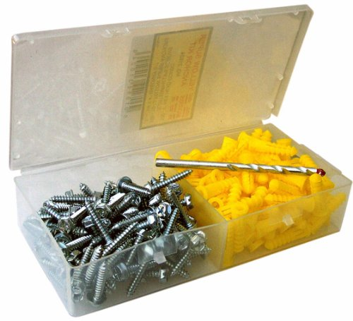 Morris Products 31024 Super Yellow Anchor Kits, Hex Head, Combo Slotted Screw Type, 10
