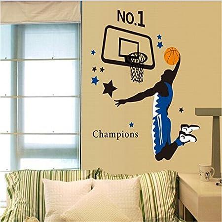 Champions Basketball Dunk Wallpaper Living Sofa Vinyl Wall Stickers