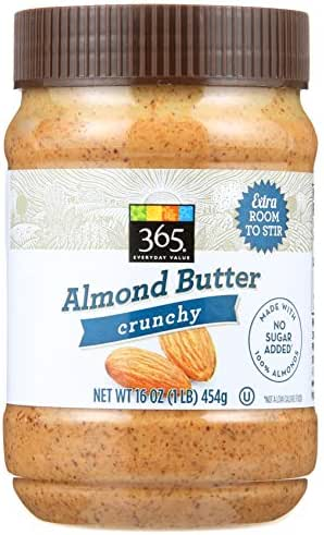 Peanut & Nut Butters: 365 Everyday Value Almond Butter Crunchy