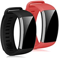 kwmobile 2x horlogeband compatibel met Huawei Band 2 / Band 2 Pro - siliconen band voor fitnesstracker - bordeauxrood…