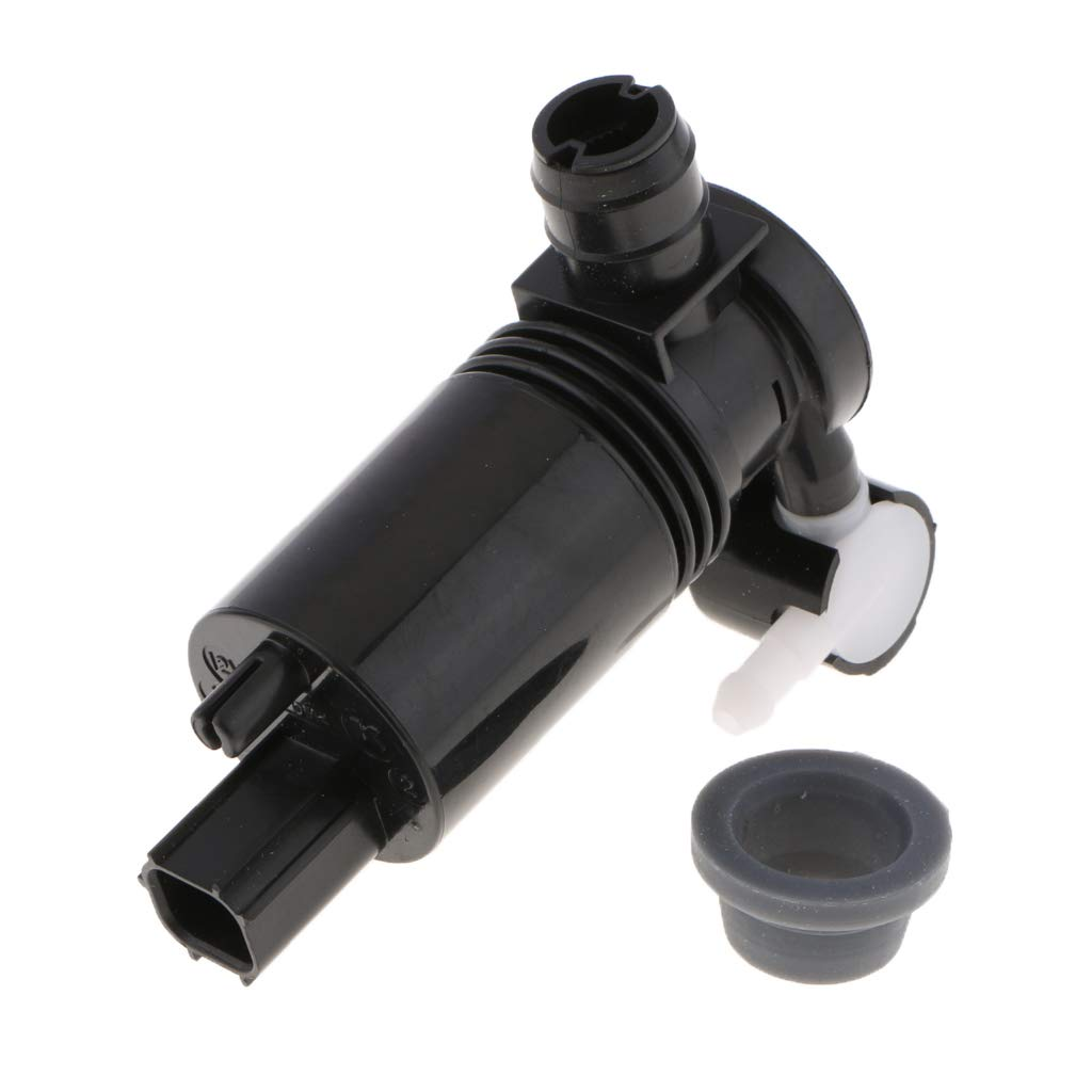 B Blesiya Windshield Washer Pump w//Grommet - Replaces OEM # 8A61-17K624-AA 4Dr Hatchback Front /& Rear For:Ford Fiesta 2011-2015