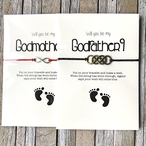 Will you be my godparents gift set of 2. Wil you be my Godmother or godmother proposal, Godmother and Godfather gifts, Madrina gifts by Carrie Clover