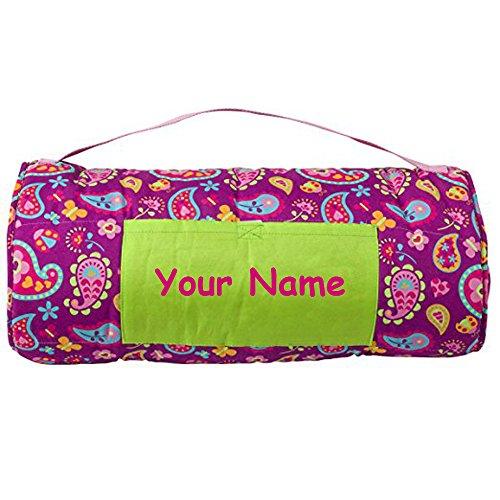- Personalized Stephen Joseph Paisley Garden Themed All Over Print Nap Mat