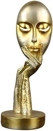 PZAIQ Esculturas Estatuas para Jardín Figuritas Decorativas Decoración Arte Mascarilla Decoración Sala De Estar Decoración del Gabinete del Vino Escultura del Personaje: Amazon.es: Hogar