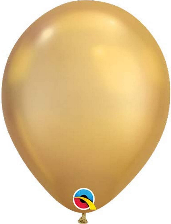 "Qualatex 11/"" Round Chrome Blue Metallic 100pc Latex Balloon"