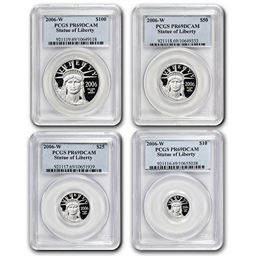 (2006 W 4-Coin Proof Platinum American Eagle Set PR-69 PCGS PR-69)