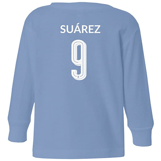 Amazon.com  Tcamp Uruguay 2018 National Soccer  9 Luis SUAREZ World  Championship Little Kids Girls Boys Toddler Long Sleeve T-Shirt  Sports    Outdoors 7a76ef4a2