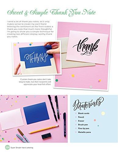 Super Simple Hand Lettering: 20 Traceable Alphabets, Easy Projects, Practice Sheets & More! (Design Originals) Includes Technique Guides, Skill-Building Exercises, Art Prints, & Vellum Tracing Paper by Design Originals (Image #6)