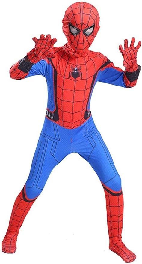Niños Spiderman Disfraz,Superhéroe Spider-man Halloween Navidad ...