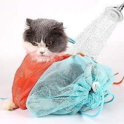 CoWalkers Bolsa de Aseo para Gatos Cachorro de Perro Limpieza Poliéster Malla Suave Rasguño y mordida Resistencia para el baño Inyección Examinar Corte de uñas