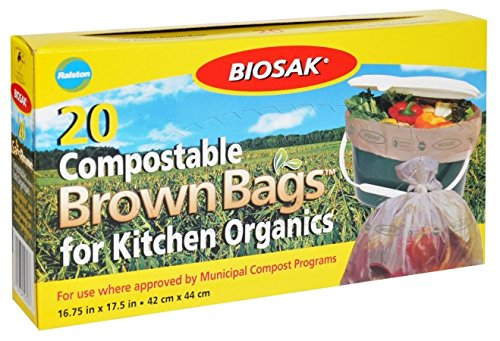 Kitchen Bags 20 Count44; 16.75 x 17.5 in. - Biosak 50303
