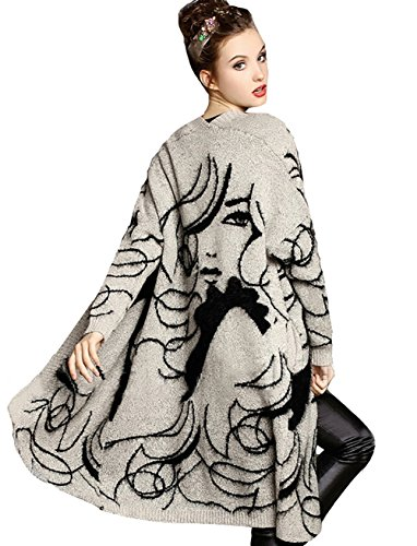 Womens Sweater Long Sleeves Beauty Face Cardigans (Big Promotion)(Free Size, - Long Face