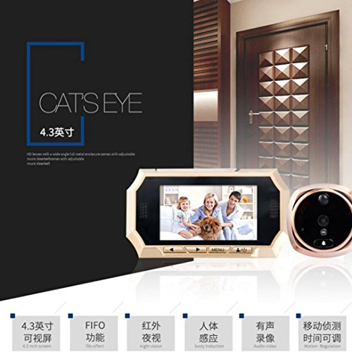 Hatop 4.3inch TFT LCD Digital Wireless Doorbell Peephole ...