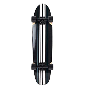 SKATEBOARD Dos Pies Descalzos El Crucero De La Madeja Bambú Serie Premium Longboard Skate Doble Rabudo Punto Retroceso De Madera Retro,Black: Amazon.es: ...