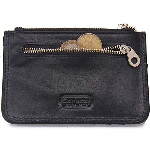 in Black da RFID First Purse Small Leather Small Layer Card Casual Portafoglio Coin Fashion uomo Anti magnetico pelle Wallet xAIdWUEwq