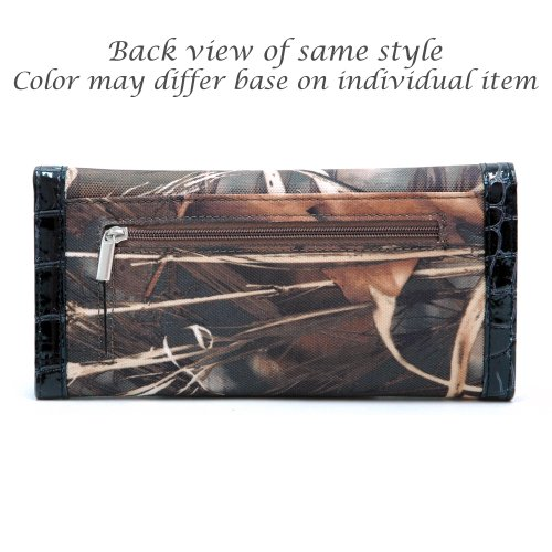 Realtree Camouflage Trifold Checkbook Clutch Wallet Purse