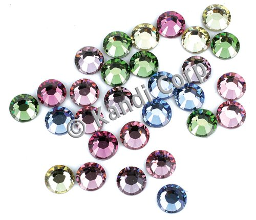 HotFix Swarovski Crystals 4mm-Light Mix 24/Pkg