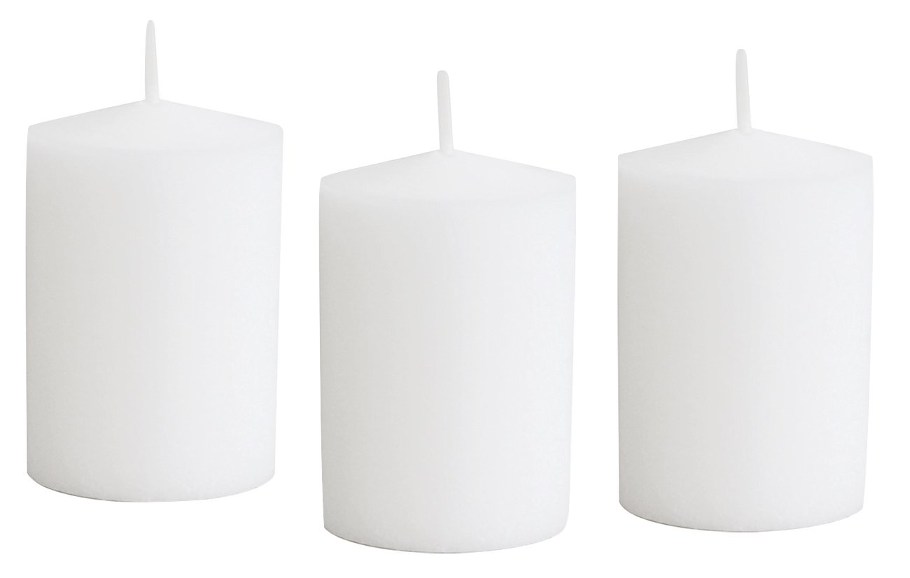 D'light Online 15 Hour Unscented White Emergency And Events Bulk Votive Candles Wedding Votives Luminary Candles (White, Set of 36)