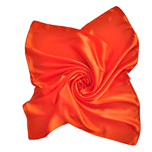 Pure Color Silk Feel Scarves Clothing Accessories Square Scarf Fashion Orange