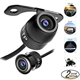 #1 Best TOPTIERPRO Hidden Mini Camera TTP-C12B Multi-functional Car Rear View / Front View / Side View Backup Camera & Spy Camera