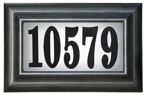 Qualarc Edgewood Classic Rectangular Plastic Lighted Address Plaque with LED Lights LTP-1304-LED
