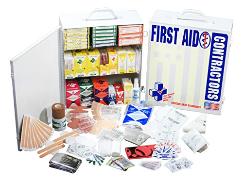Certified Safety K612-002 FAC 3 Contractors 100 Person First Aid Kit in Metal Cabinet