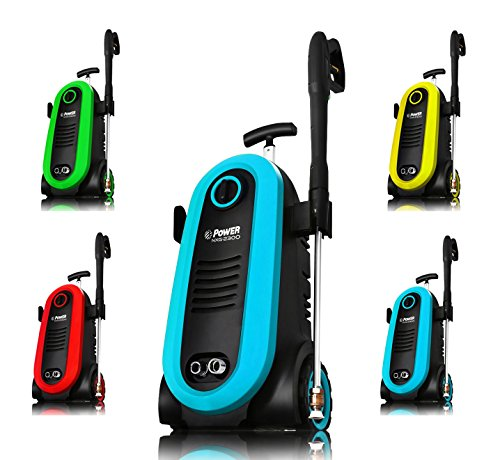 Power Pressure Washer 2300 PSI Electric | Brushless Induction Technology | The Next Generation of Pressure Washer | 3X More Lifespan | Ultra Low Sound | New Design | Power Efficient (Blue)