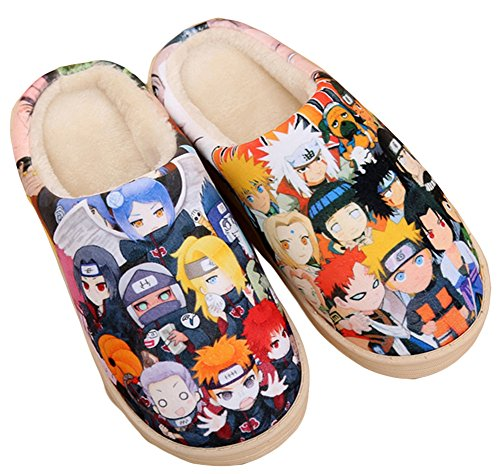 - Gumstyle Naruto Style Anti-Slip House Slippers Winter Plush Warm Indoor Shoes