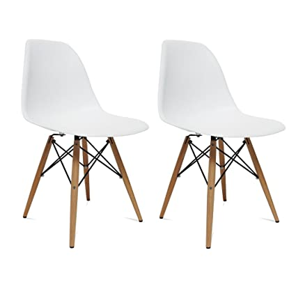 bcb598c941d Image Unavailable. Image not available for. Color  Lemoderno WoodLeg Dining  Chair ...